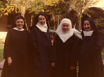 Sr. Mary Anne, Sr. Astrid, Sr. Harriet, Sr. Mary Teresa