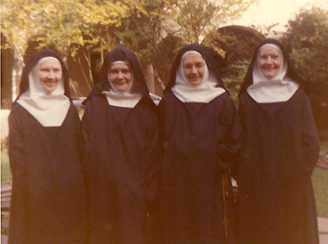 Sr. Celine, Sr. Claudia, Mother Emmanuel, Sr. Mary
